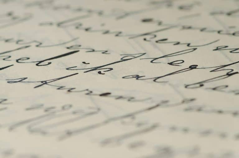 police d'écriture